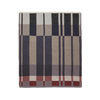 contemporary color block and lines cotton knit blanket by Ferm Living
