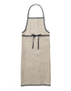 Designed with every cooking and cleaning endeavor in mind, this functional yet soft apron will be your daily assistant. Sewn with a large front pocket and contrast linen edge piping, these aprons are made in Japan by Fog Linen. Full length with waist ties. at Port of Raleigh