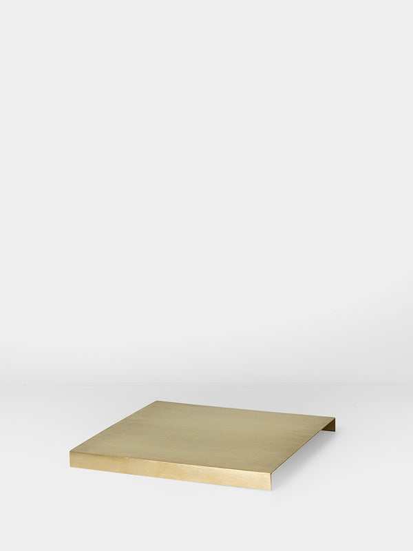 Brass tray for modern simple minimalist plant box by Danish design studio Ferm Living at Port of Raleigh