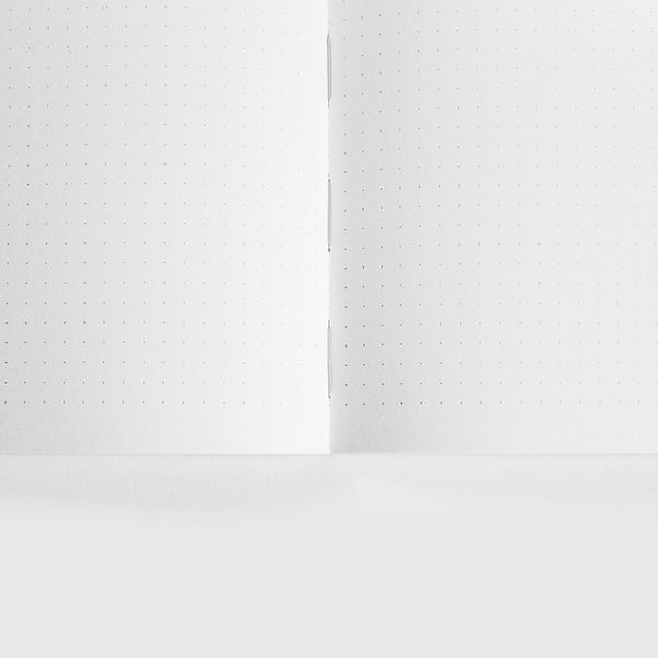 Minimalist dot grid paper notebook by Mishmash