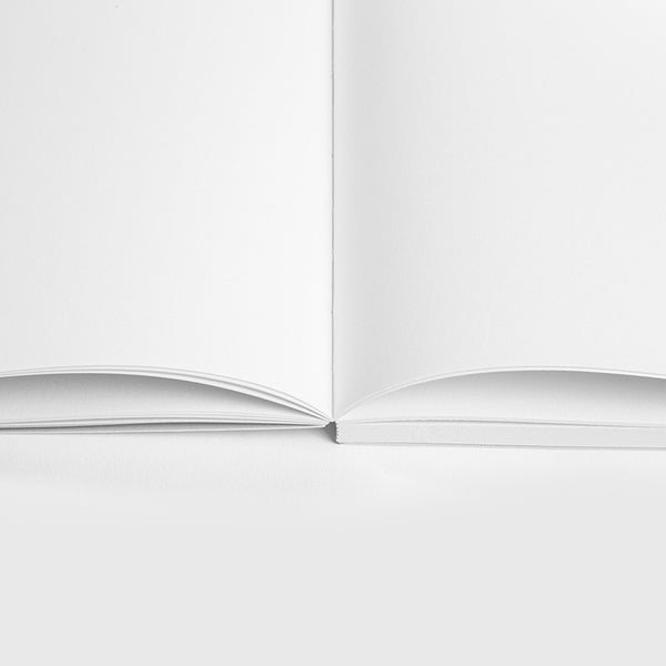 Minimalist plain paper notebook by Mishmash