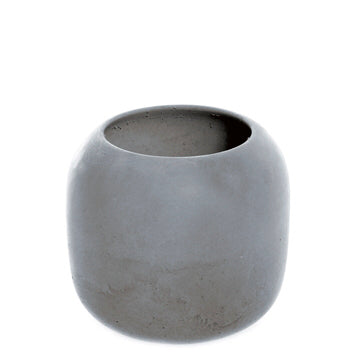 High Concrete Bowl - Dark Grey