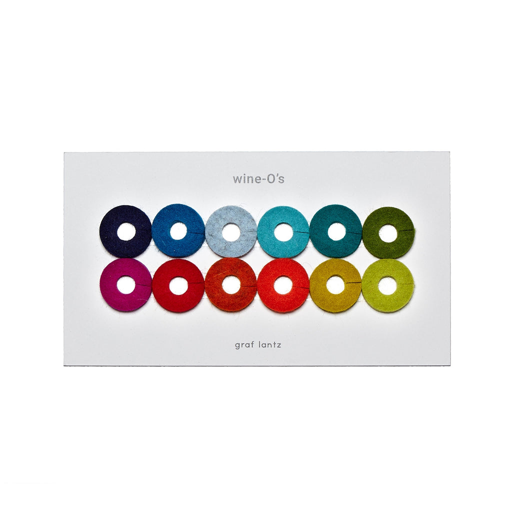 Simple modern minimalist and fun wine indicators by Graf Lantz made in USA at Port of Raleigh