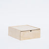 Simple birch plywood storage box with sliding lid. Available in multiples sizes. Made in USA by Waam Industries at Port of Raleigh
