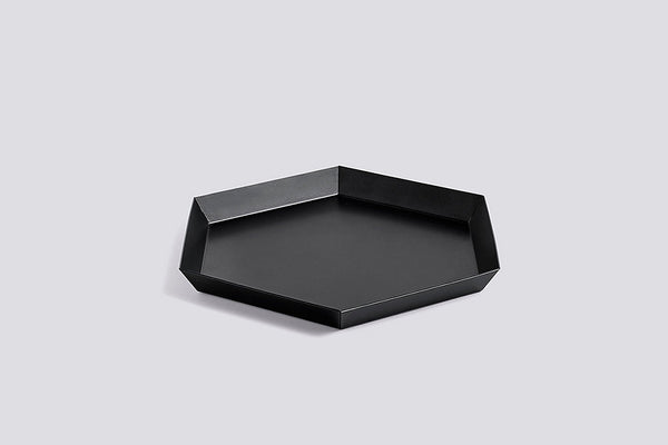 Danish designed metal trays for every style. Available in a myriad of colors and stackable shapes, these trays can be layered in infinite ways. Made with Coated steel by HAY design.