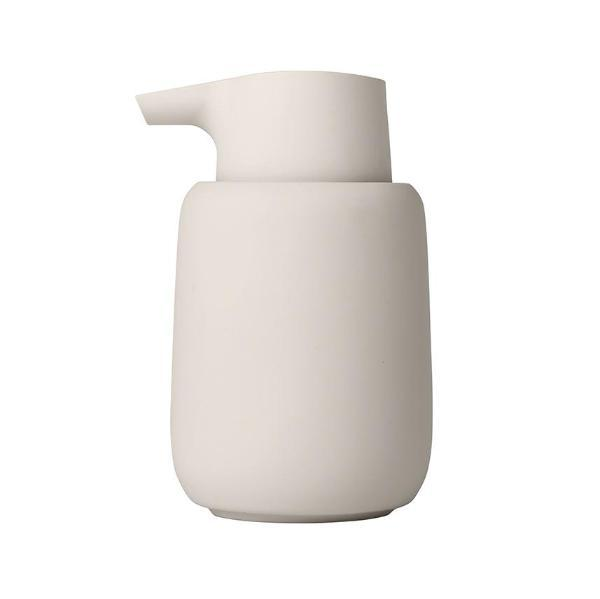 Ceramic soap dispenser designed with total simplicity and functionality in mind. Perfectly delivers liquid soap while looking sleek on your vanity. Part of the Sono collection from Blomus. at Port of Raleigh