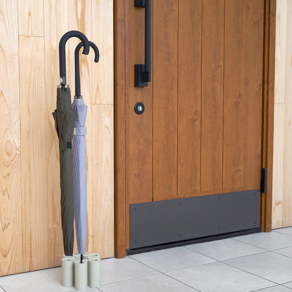 Keep your entryway free of dripping water and wet umbrellas with this clever and fun umbrella stand. The Splash, by +d, was inspired by the shape of water as it splashes up from water puddles on a rainy day. Made of weighty silicone, it can hold up to 7 dry or wet umbrellas and adds a playful touch to dreary rainy days.