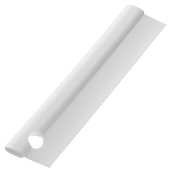 For keeping your bathroom dry and mildew-free, Squeegee is soft and easy to use and made of solid silicone. Use after bathing to keep steam and water drops from building up on walls and mirrors. It's made of quality silicone and has a hole with a slit for hanging on any bar.