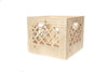 Wooden crates made in USA from high-density birch plywood crate that can stack and flip. a standard industrial storage container, these crates transform the storing process from simply giving things a place, to proudly collecting and displaying things in your life spaces.