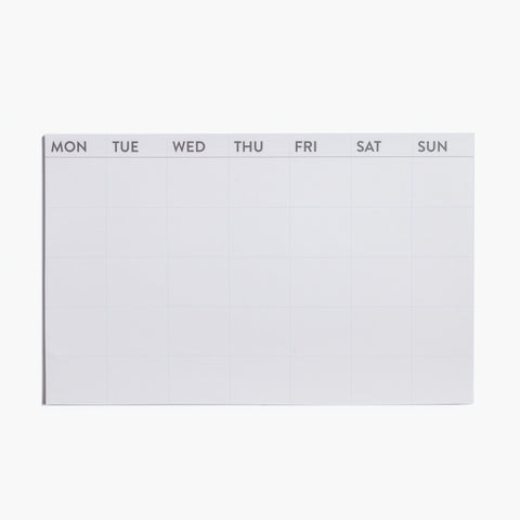 Monthly sticky note for planning, home and office. Peel and stick planner by Poketo