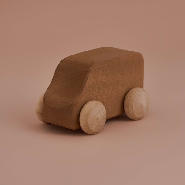 A classic wooden car with modern style. Hand crafted in Russia using solid lime wood and is perfectly simple and durable for all the little years of imaginative play.