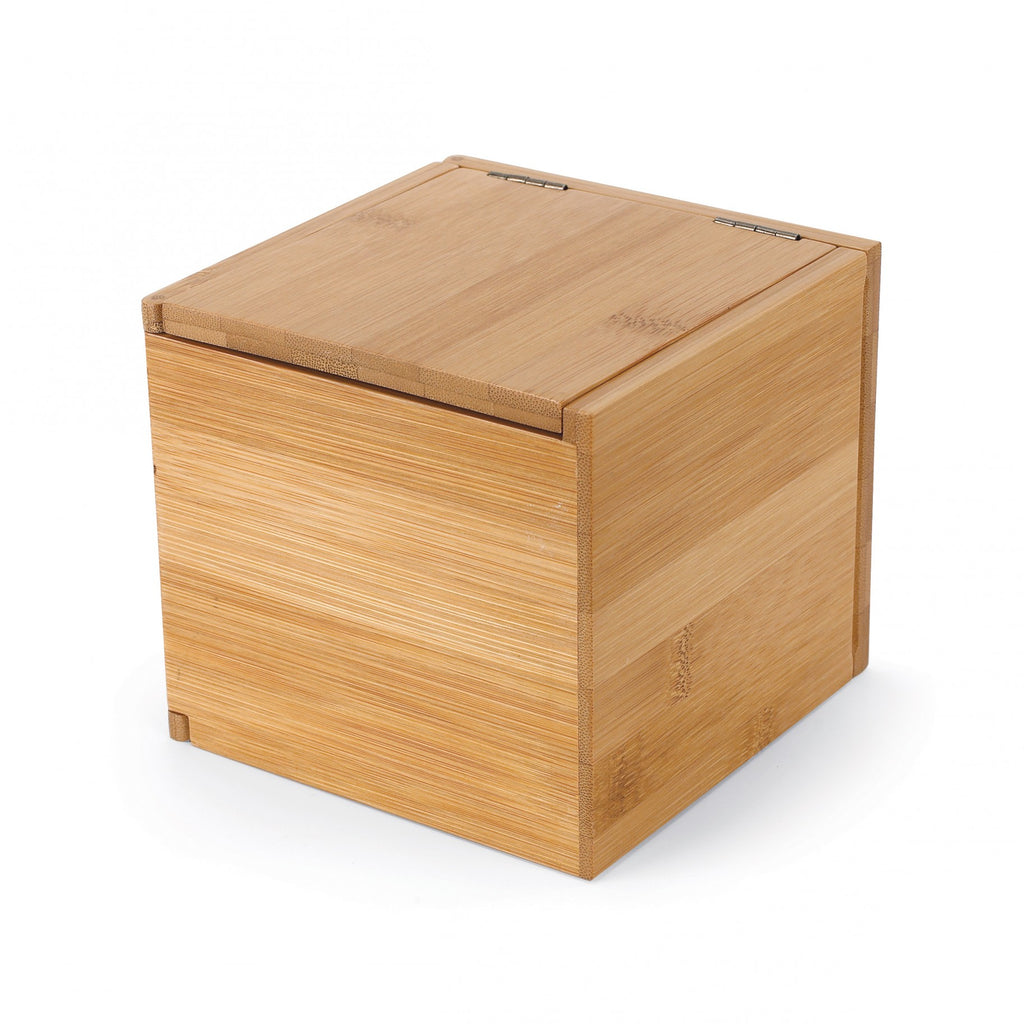 simple and modern jewelry and watch storage box made of bamboo by Umbra at Port of Raleigh