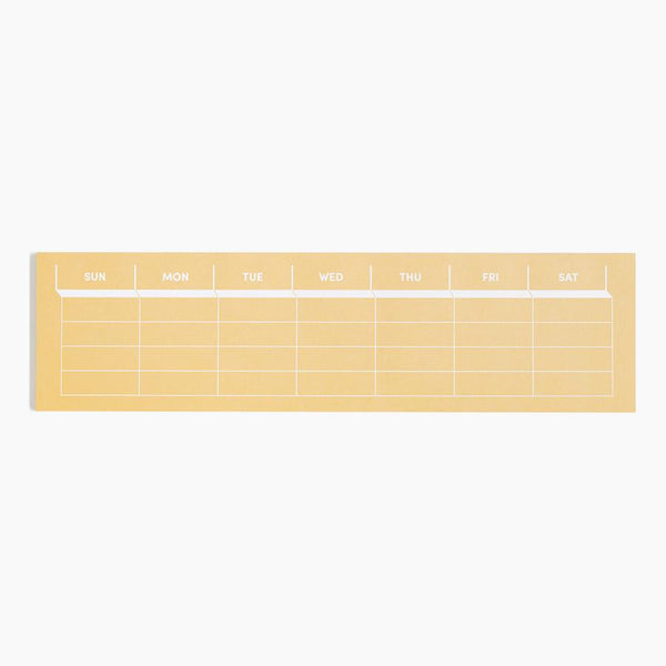 Weekly keyboard paper pad for planning your week and staying organized with a color pop. By Poketo at Port of Raleigh