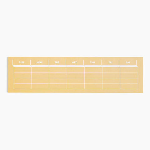 Weekly keyboard paper pad for planning your week and staying organized with a color pop. By Poketo