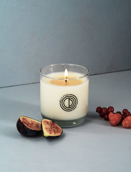 Clean-burning candle made in Brooklyn, NY USA using natural coconut wax, paraffin and palm oil free. 50 hour burn time. By Keap Brooklyn at Port of Raleigh