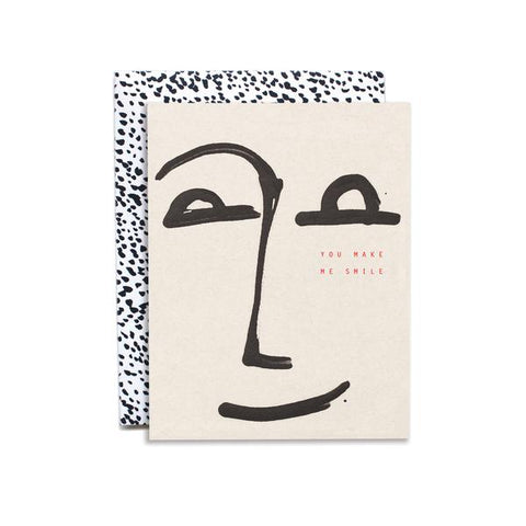 Give a lovely hand painted card to the one who makes you smile. Hand painted and foil pressed by Iowa based studio, Moglea.