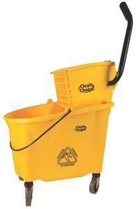 Mop Bucket 35qt, Yellow, Clean Choice, with Side Press Wringer Combo