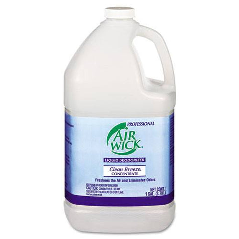 Airwick Liquid Deodorizer, Clean Breeze, Concentrate, 4 gallons in Box