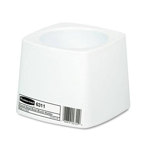 Holder for Toilet Bowl Brush, White Plastic, Each