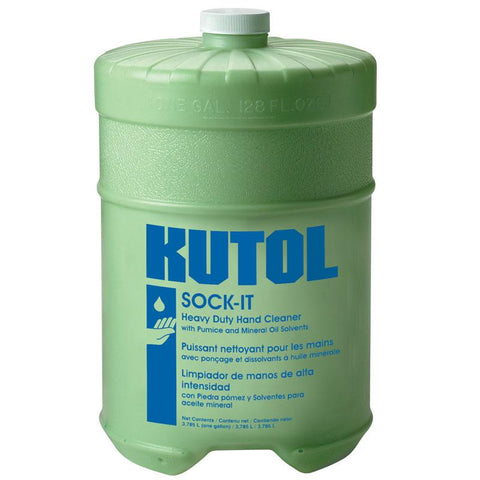 Sock-It Heavy Duty Hand Cleaner w Pumice, Flat Gallon Bottle, Kutol Pro 1607, Pack of 4
