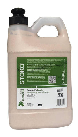 Solopol Classic Heavy Duty Industrial Hand Cleanser 1/2 Gallon Pump Bottle - 30384, Pack of 4