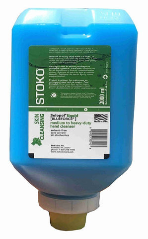 Solopol Liquid [Blue Force] Solvent-Free Hand Soap 2000ml Softbottle - 33540
