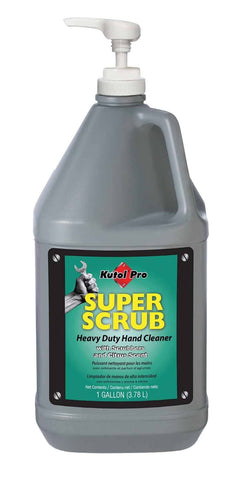 Super Scrub with Scrubbers Heavy Duty Hand Cleaner, One Gallon Bottle with Pump, Kutol Pro 4502, Pack of 4