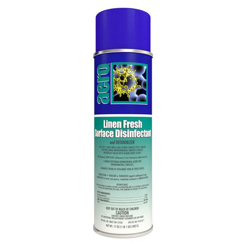 Surface Disinfectant and Deodorizer Spray, Linen Fresh 17oz Can - Aero 464120FA, Box of 12