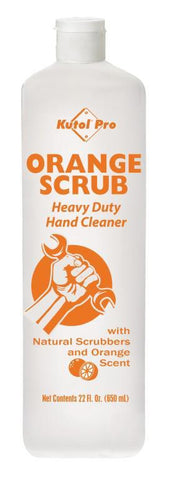 Orange Scrub with Natural Scrubbers Heavy Duty Hand Cleaner, 22 oz. Squeeze Bottle, Kutol Pro 4984, Pack of 3