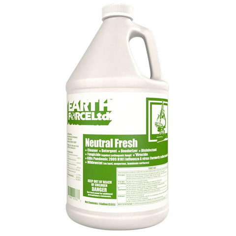 Aero Earth Force Neutral Fresh Disinfectant & Cleaner Gallon, Box of 4