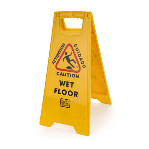 Caution Wet Floor Sign Yellow Palmer Fixture CS0701-19