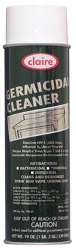 Germicidal Cleaner Disinfectant and Deododrizer Spray, 20 oz Can, Kosher NSF, Claire , Pack of 12 - 873