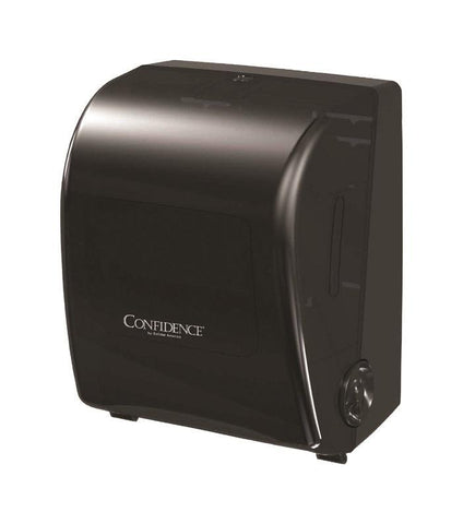 Paper Towel Holder Dispenser, for Confidence Paper, Mechanical, No-Touch, No Batteries, Confidence 410261