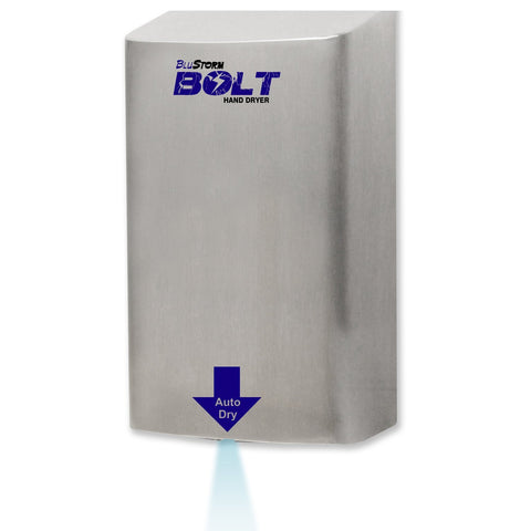 BluStorm® Bolt High Speed Hand Dryer 110/120V Brushed Stainless Palmer Fixture HD0923-09