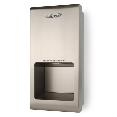 BluStorm®2 Recessed High Speed Hand Dryer Brushed Stainless Palmer Fixture HD0955-09