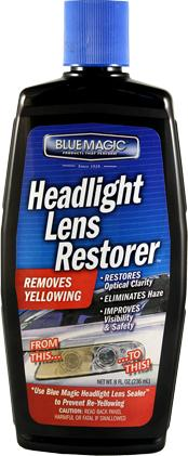 Blue Magic 725-06 - Headlight Lens Restorer, 8 oz Bottle, Pack of 6