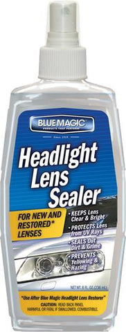 Blue Magic 730-06 - Headlight Lens Sealer, 8 oz Pump Bottle, Pack of 6