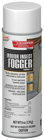 Indoor Insect Fogger, Champion Sprayon 6 oz Can, Box of 3