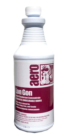 Lon Gon Odor Eliminator Liquid Air Freshener Quart bottle, Box of 12