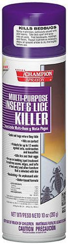 Multi-purpose Insect & Lice Killer, Champion Sprayon 10 oz Can, Box of 12