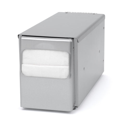 Counter Top Low Fold Napkin Dispenser Brushed Stainless Palmer Fixture ND0051-13