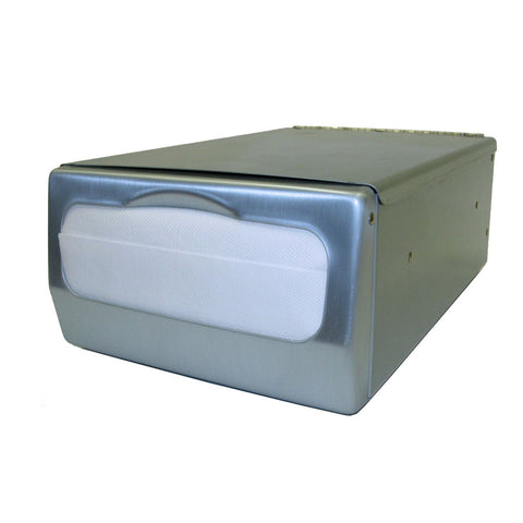 Counter Top Mini Fold Napkin Dispenser Brushed Stainless Palmer Fixture ND0061-13