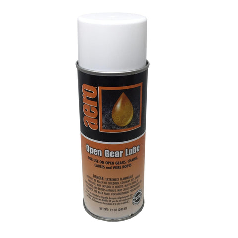 Open Gear Lube Spray for Chains, Cables and Wire Ropes, 12oz Can, Box of 3