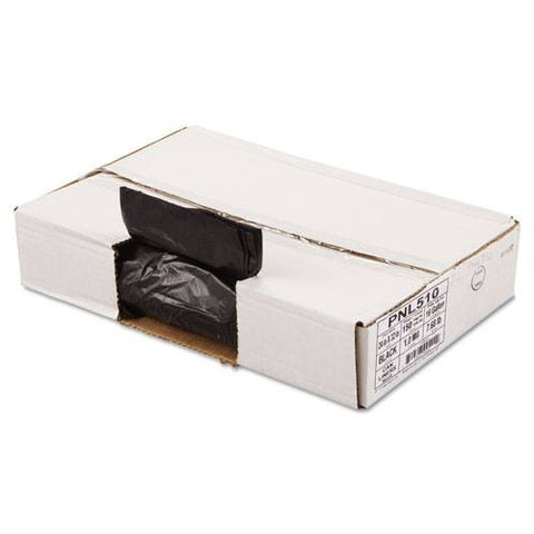 Linear Low Density Can Liners, 1.5 mil, 24 x 32, Black, 150/Carton