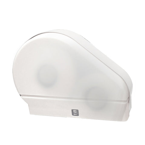 "Single 9"" Jumbo Tissue Dispenser with Stub Roll White Translucent Palmer Fixture RD0024-03F"