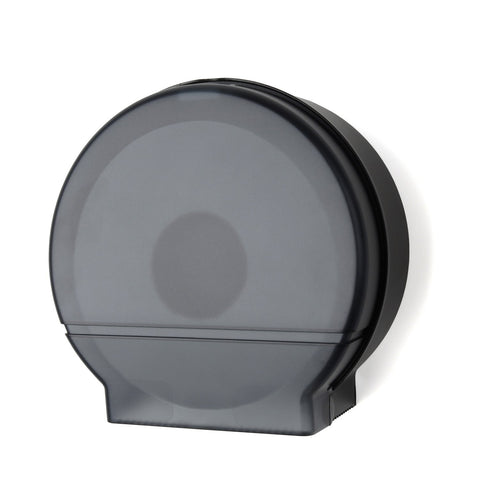 "Single 9"" Jumbo Tissue Dispenser 3 3/8"" Core Only Black Translucent Palmer Fixture RD0026-02"
