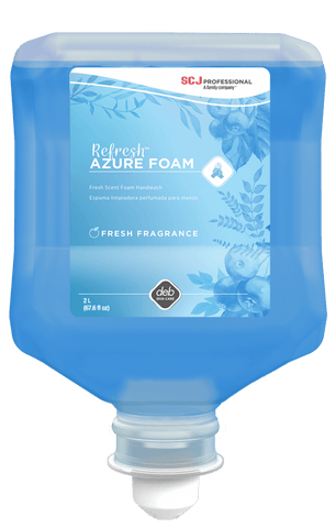 Refresh Azure Luxury Foam Soap 1 Liter Refill, Pack of 6