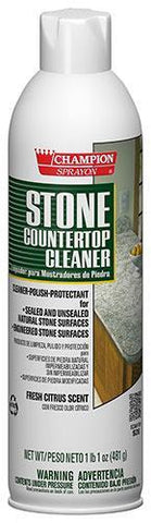 Stone Countertop Cleaner - Polish - Protectant Champion Sprayon, 17 oz Can, Box of 12