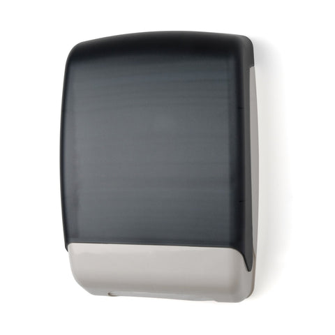 Plastic Multifold Towel Dispenser Dark Translucent Palmer Fixture TD0179-01