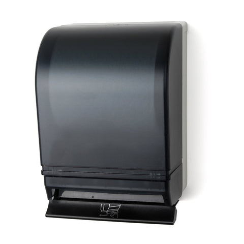Auto-Transfer Push Bar Roll Towel Dispenser Dark Translucent Palmer Fixture TD0216-01